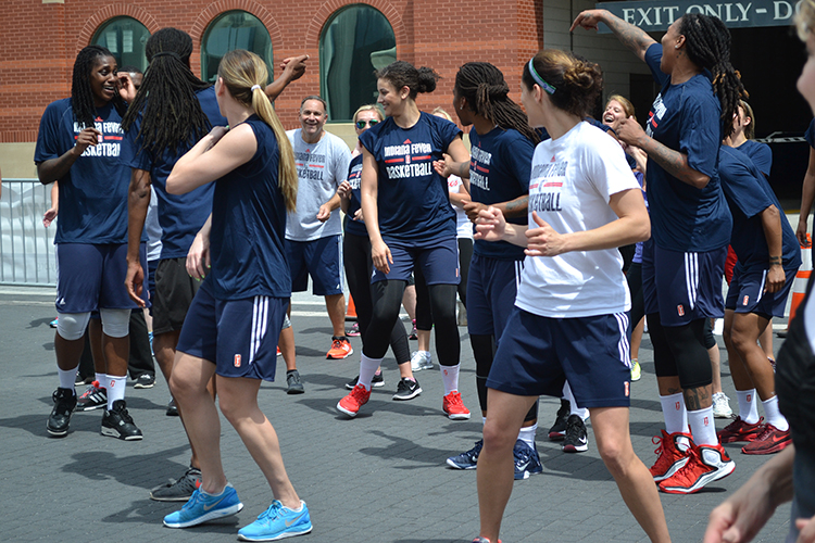 The Indiana Fever at Workout Wednesday