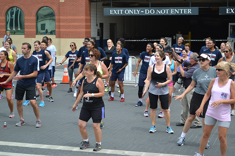 The Fever at Workout Wednesday in downtown Indy