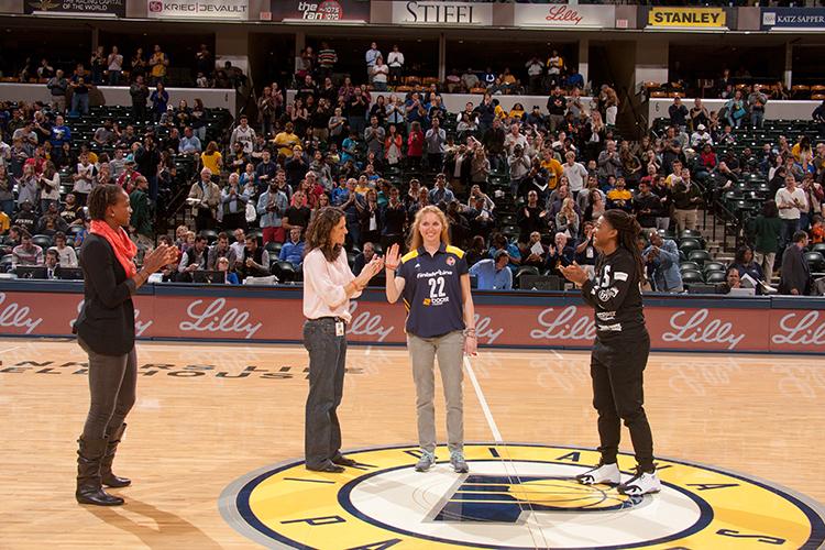 Lauren Hill at the Pacers preseason game