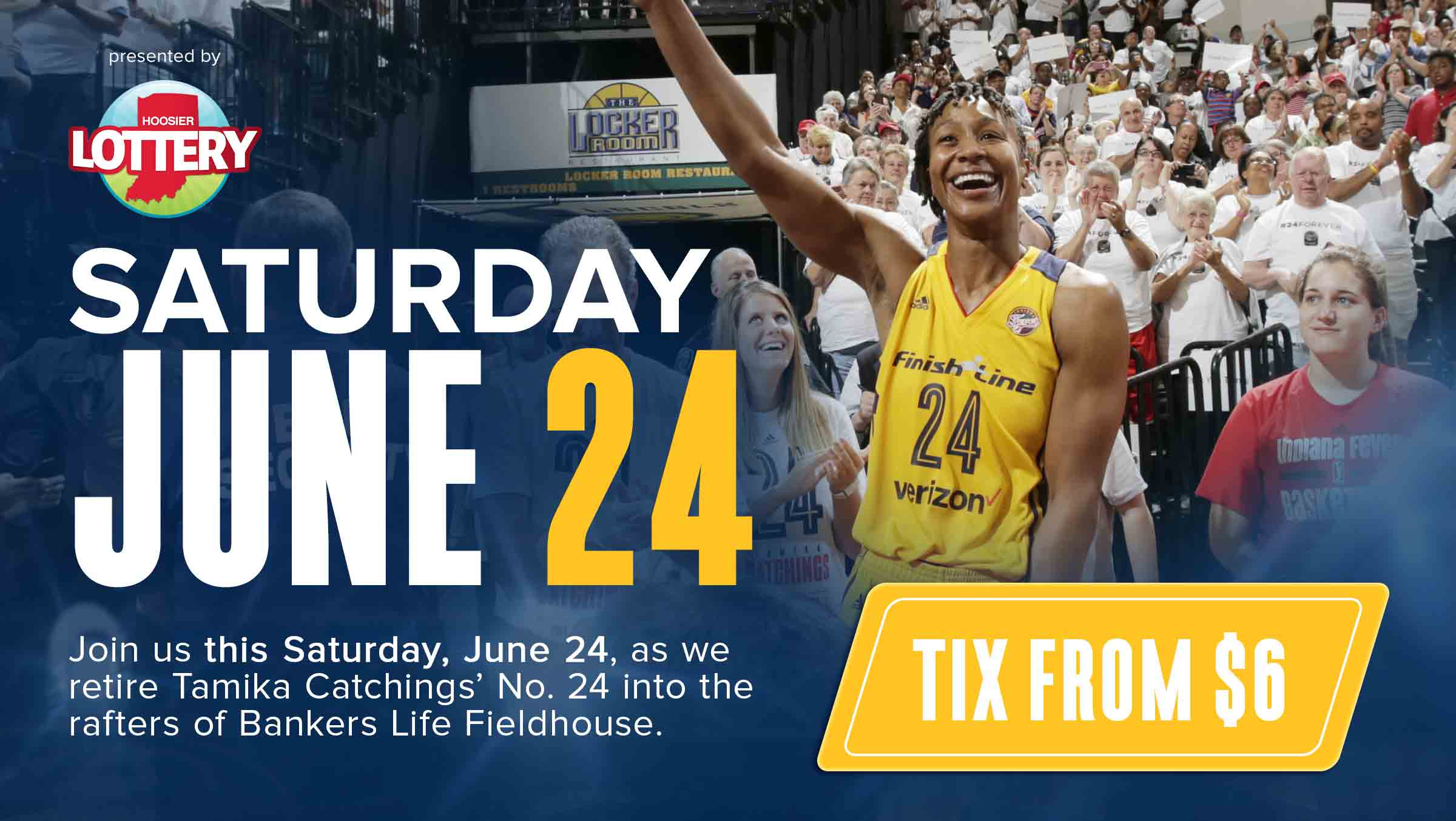Tamika Catchings Jersey Retirement Celebration presented by Hoosier Lottery