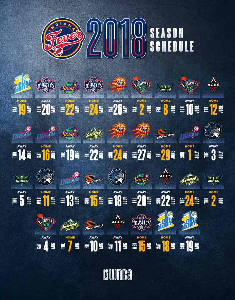 2018 Indiana Fever Schedule