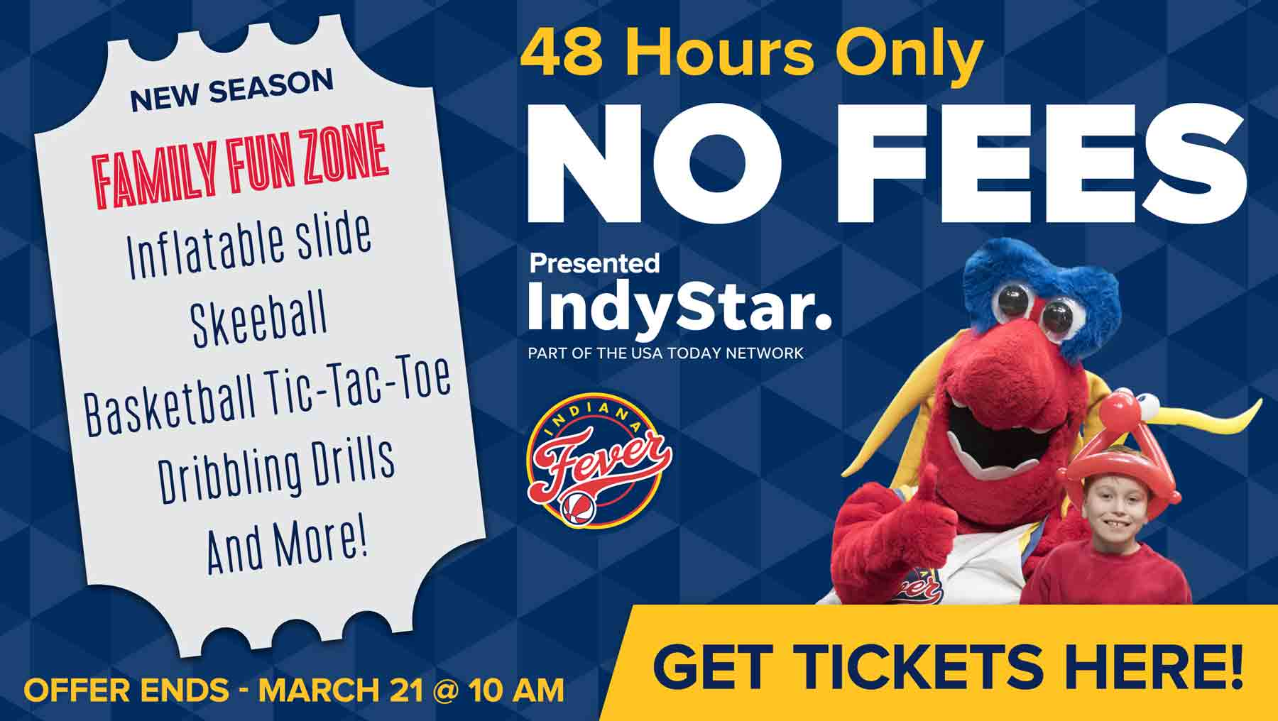NO FEES for 48 Hours! Presented by the IndyStar