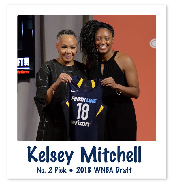 Kelsey Mitchell Draft Night